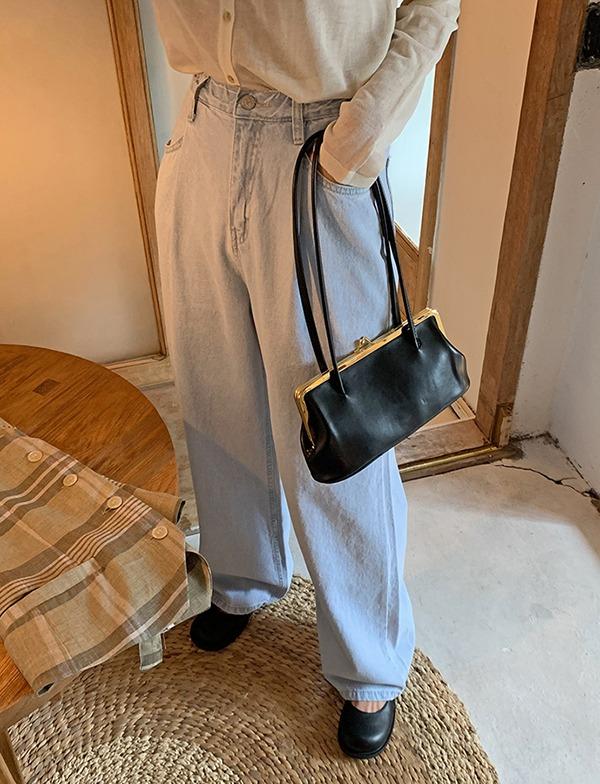 browncode-169 wide denim pants♡韓國女裝褲