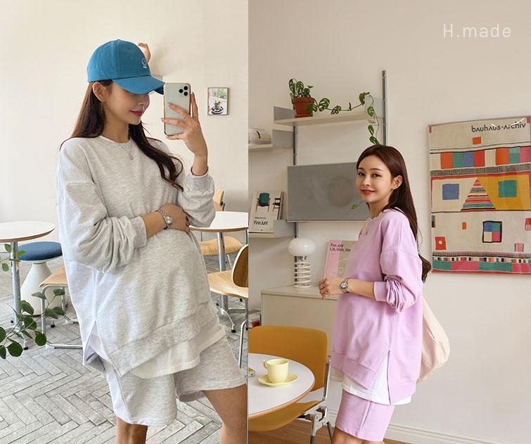 happy10-[*특별제작15% 활용도높은 세트템*임부복*만능데일리룩 세트(예약주문 4/13)]♡韓國孕婦裝上衣