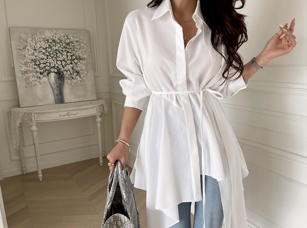 naning9-호베코 언발블라우스(C03)♡韓國女裝上衣