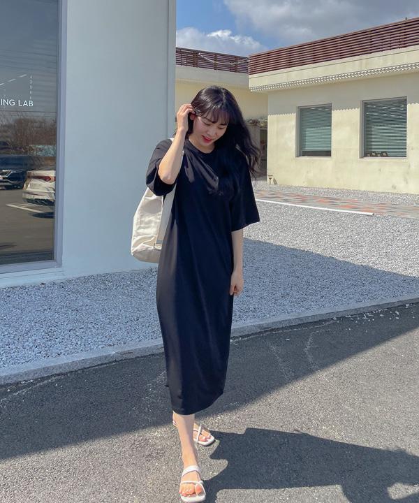 loveloveme-[MADE] 찰랑 쿨링 반팔 원피스 | 럽미♡韓國女裝連身裙