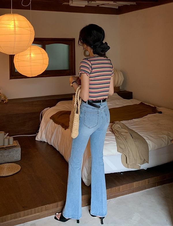 browncode-46 bootscut denim pants♡韓國女裝褲