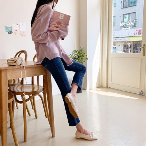 dodry-U16328 봄봄 리보닝 플랫슈즈♡韓國女裝鞋