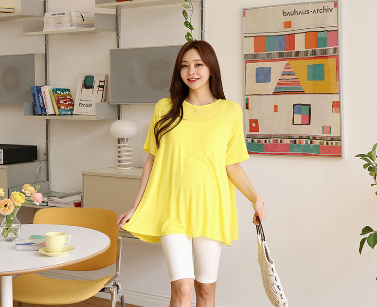 happy10-[*신상5% 기간한정할인*임부복*보들훌살랑 티]♡韓國孕婦裝上衣