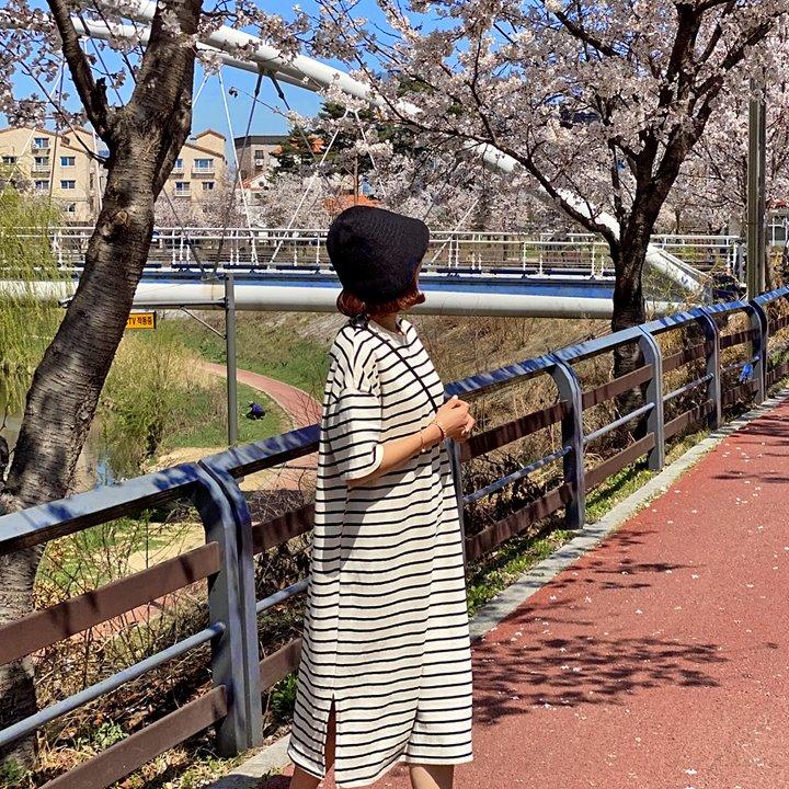 lemite-화사단가라 원피스(44~77사이즈추천)♡韓國女裝連身裙