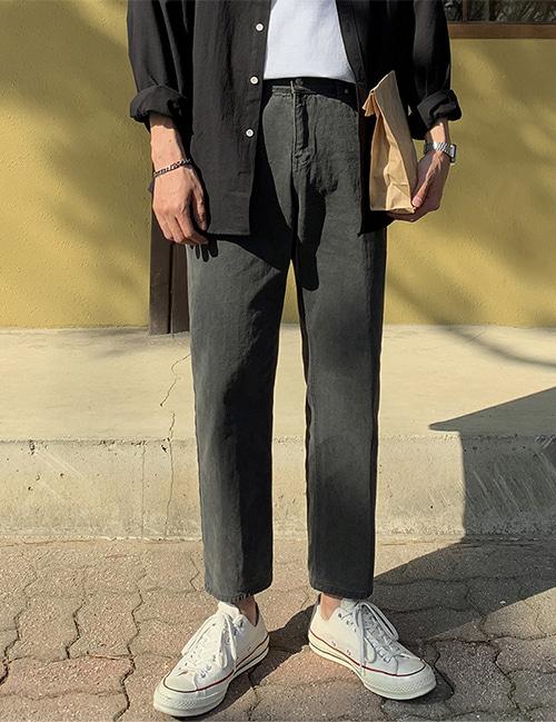 from-us-350 피그먼트 코튼팬츠 (3color)♡韓國男裝褲子