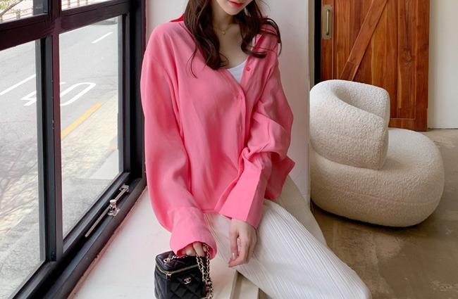 minsshop-셀러 텐셀 셔츠♡韓國女裝上衣