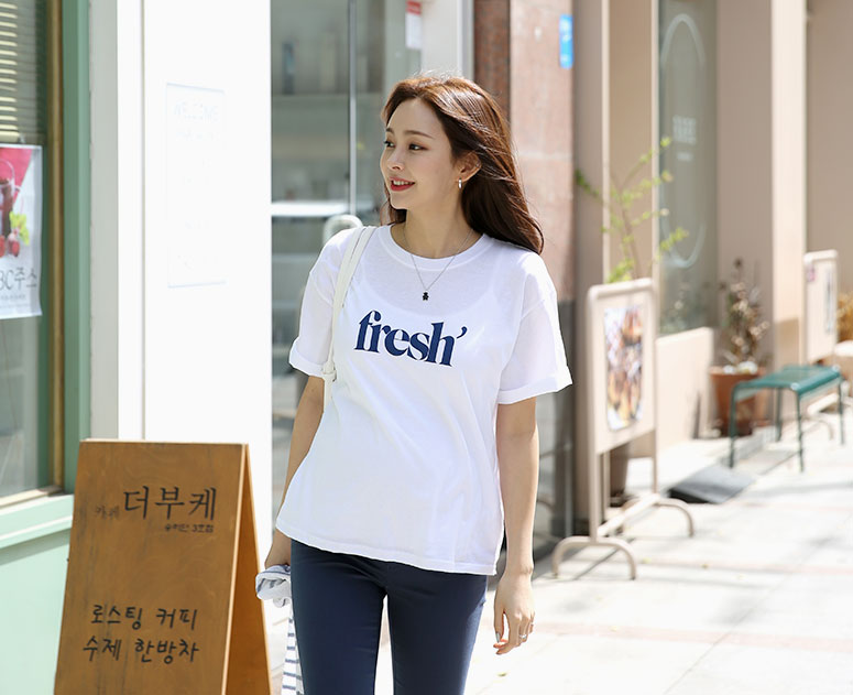 happy10-[*신상5% 기간한정할인*임부복*프레시레터 티]♡韓國孕婦裝上衣