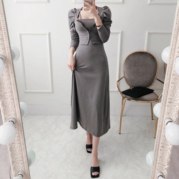 babinpumkin-만다린 세트(가디건+원피스)♡韓國女裝套裝