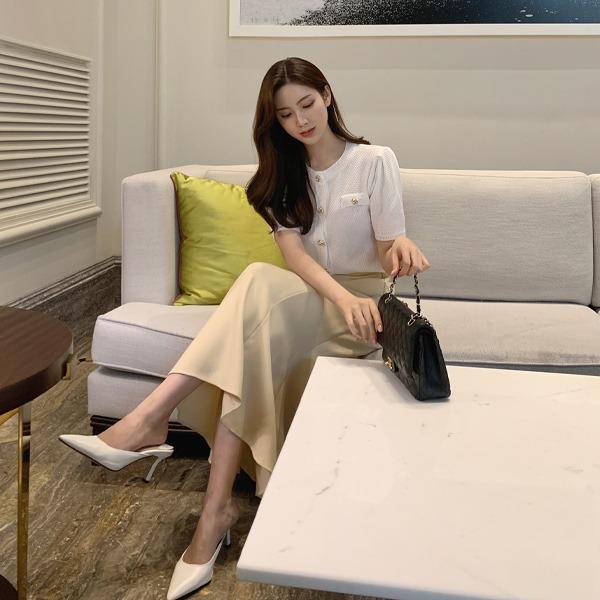 benito-바비르 트위드 와플 가디건 신상/라운드/가디건/트위드/반팔/베스트/여성/데일리♡韓國女裝外套
