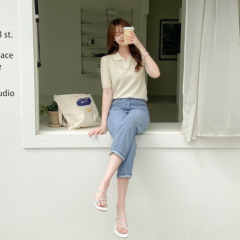 attrangs-ps2811 리사이클 에코원단 루즈핏 썸머데님팬츠♡韓國女裝褲