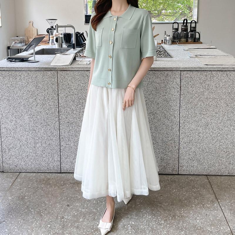 attrangs-sk4787 샤샤 라벤더 스커트♡韓國女裝裙