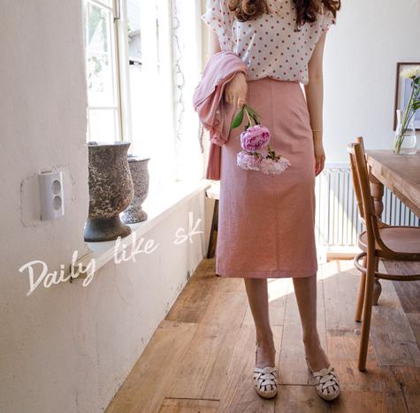 leelin-[콜로라도 맵시트임 스커트[size:S(55),M(66)]]♡韓國女裝裙