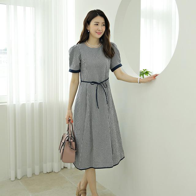 tiramisu-573팡팡체크원피스♡韓國女裝連身裙