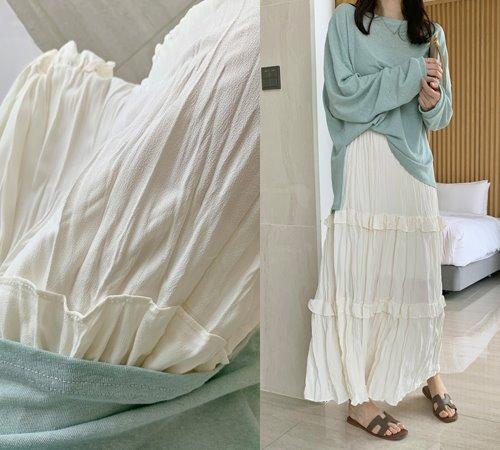 theozzang-블리핑 링클캉캉스커트(밴딩)♡韓國女裝裙
