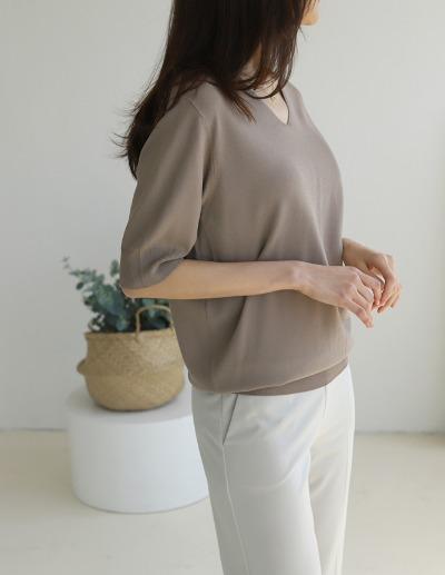 indibrand-이유 브이넥 니트 (수입)♡韓國女裝上衣