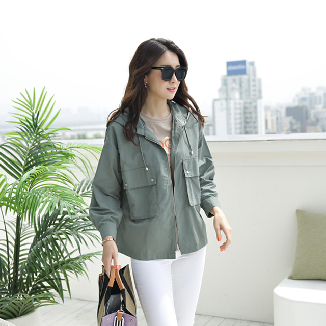 tiramisu-570빅포켓홉겹후드점퍼♡韓國女裝外套