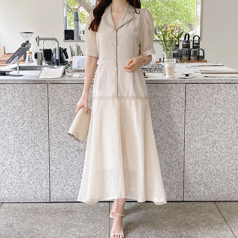 attrangs-op11432 로코 시스루 원피스♡韓國女裝連身裙