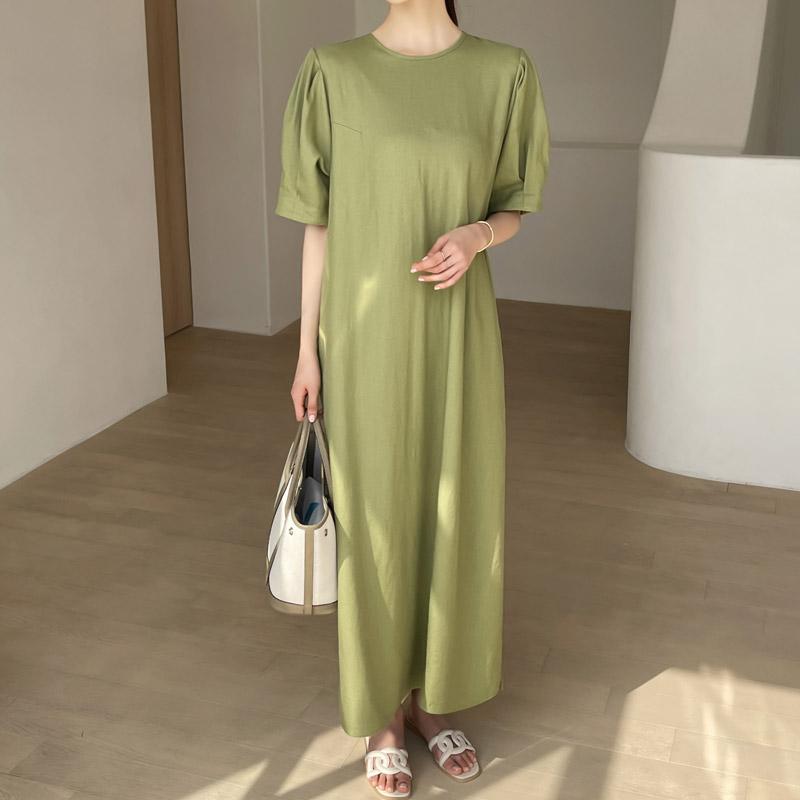 attrangs-op11431 바네사 퍼프 롱원피스♡韓國女裝連身裙
