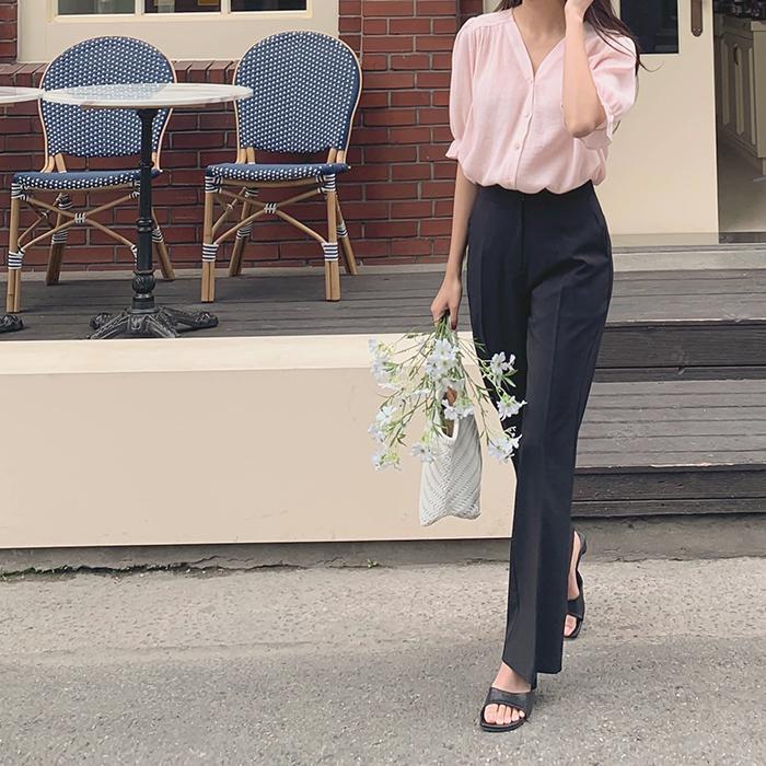 cherrykoko-[[madekoko] 썸머 부츠컷 슬랙스]♡韓國女裝褲