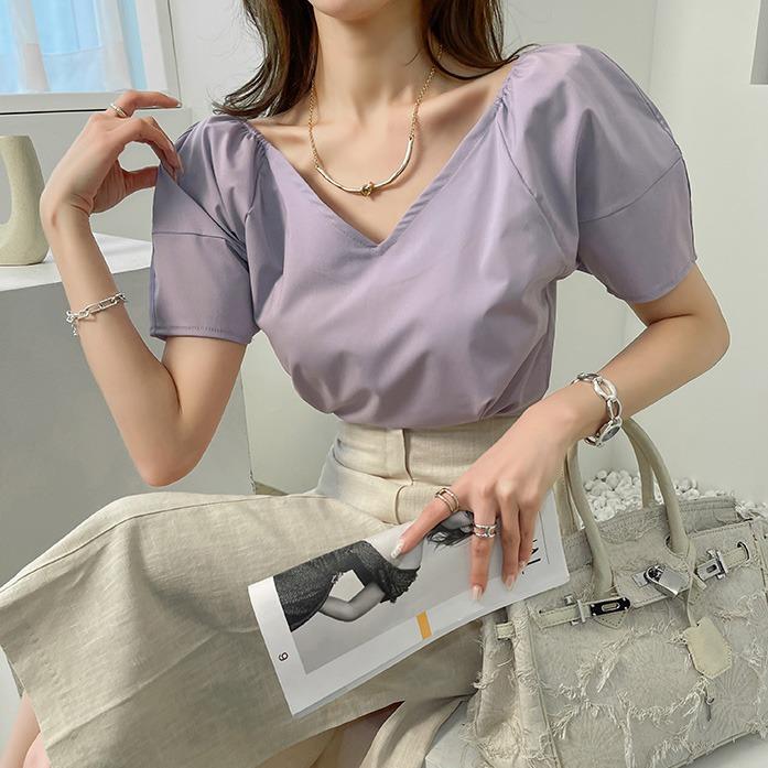 dabagirl-디어린튤립블라우스_A1BL 30대여성쇼핑몰 20대여자쇼핑몰 키작은여자쇼핑몰 여성의류쇼핑몰 데이트룩 데일리룩 여친룩 탑 상의 블라우스 페미닌 튤립넥 여리여리 오프숄더 투웨이 핀턱 화이트블라우스 연보라블라우스♡韓國女裝上衣