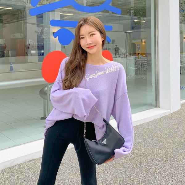 planj-샤인 루즈핏 티셔츠♡韓國女裝上衣
