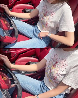 cocostory-[바로배송-주얼 프린팅 나염 티셔츠-디테일이 아름다운~!!]♡韓國女裝上衣