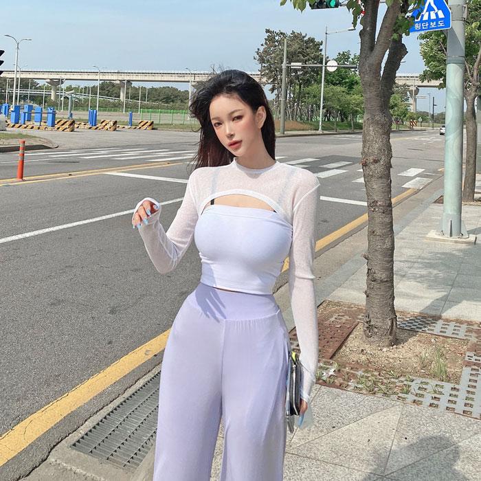 hypnotic-[굿즈탑레이어드 세트]♡韓國女裝上衣套裝