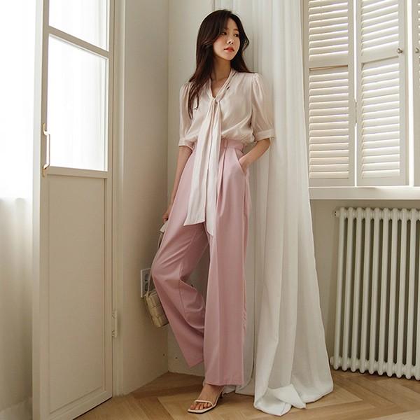 ode-[핀턱 포멀 와이드핏 하이웨스트 슬랙스]♡韓國女裝褲