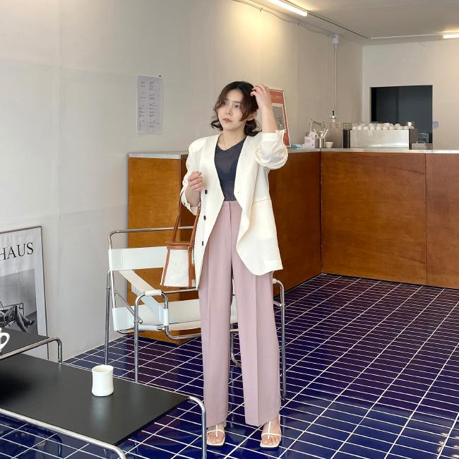 candyglow-[세레나 밴딩 슬랙스]♡韓國女裝褲
