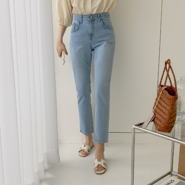 realcoco-♥NEW10%할인♥레이븐 밴딩 슬림 데님 팬츠(데일리)♡韓國女裝褲