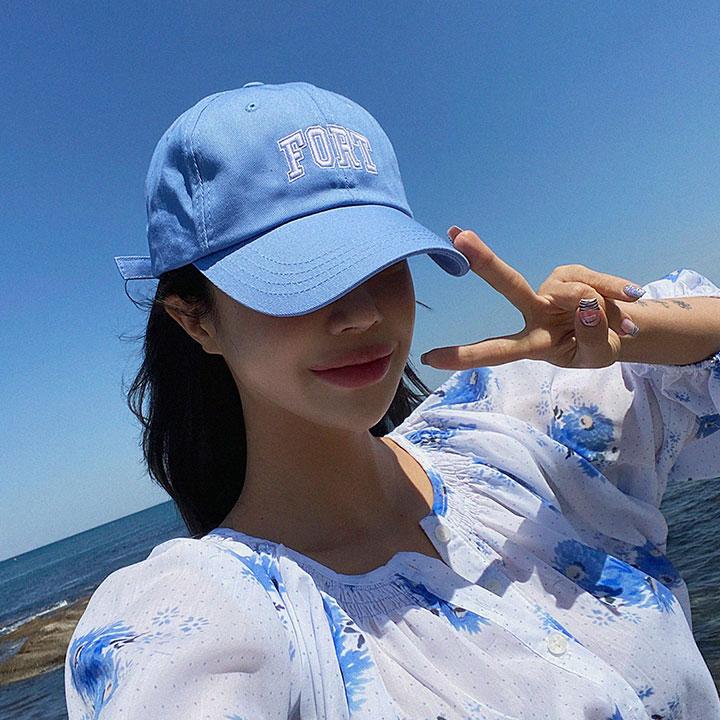 lagirl-폴트자수볼캡-cap♡韓國女裝飾品