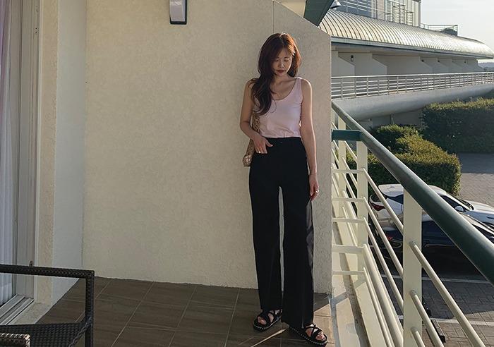 prostj-드로우 포켓 팬츠 (2colors)♡韓國女裝褲