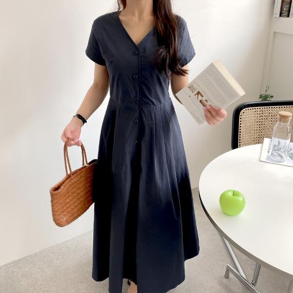 realcoco-♥NEW10%할인♥피노 코튼 반팔 롱원피스(캐주얼/데일리)♡韓國女裝連身裙