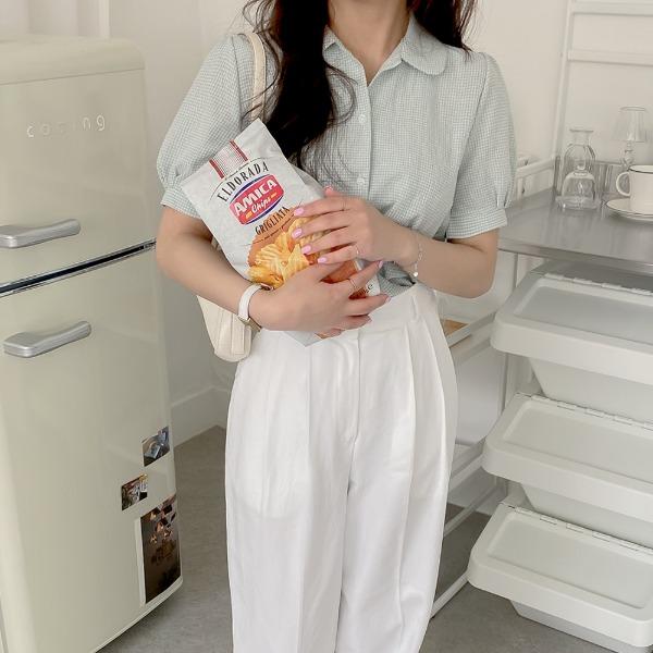 realcoco-♥NEW10%할인♥페너 체크 데일리 블라우스(데일리/여름)♡韓國女裝上衣