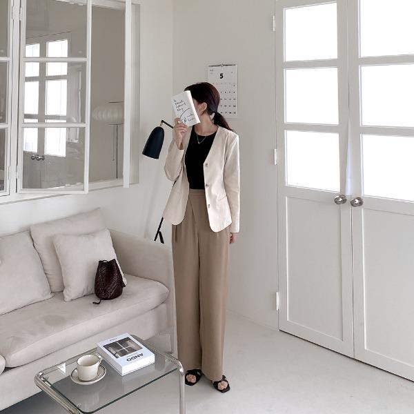 realcoco-♥NEW10%할인♥벤티랩 린넨 와이드 슬랙스(루즈핏/데일리)♡韓國女裝褲
