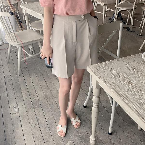 realcoco-♥NEW10%할인♥위즈 핀턱 하프 슬랙스(데일리/베이직)♡韓國女裝褲