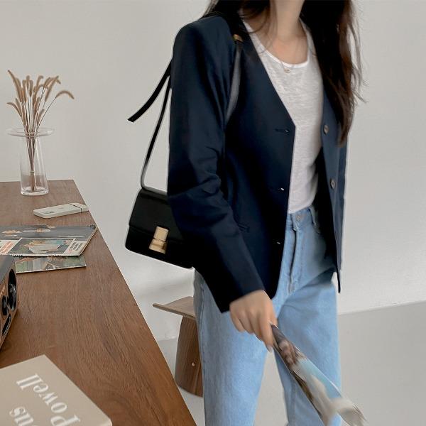 realcoco-♥NEW10%할인♥REALMADE퍼지 노카라 린넨 자켓(데일리/여름)♡韓國女裝外套