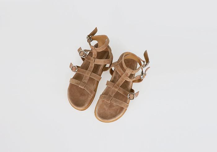 prostj-브라우닝 스웨이드 샌들 (2colors)♡韓國女裝鞋