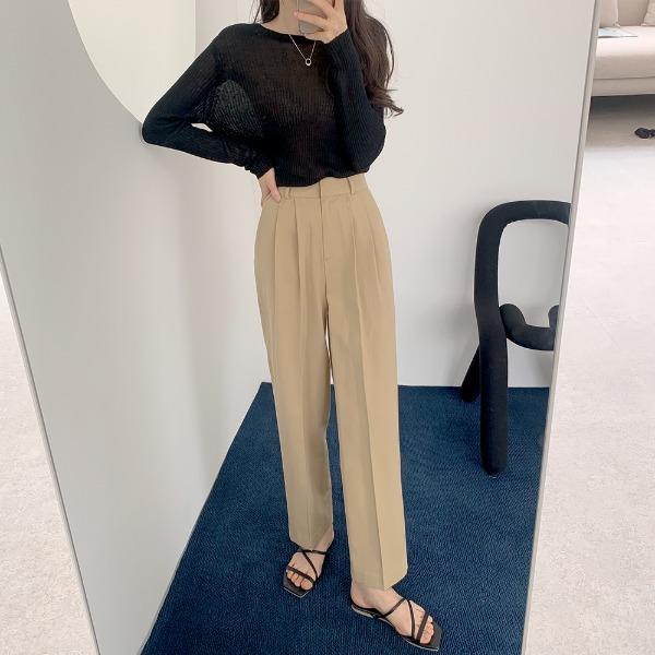 realcoco-♥NEW10%할인♥모딕 핀턱 데일리 코튼팬츠(일자핏)♡韓國女裝褲