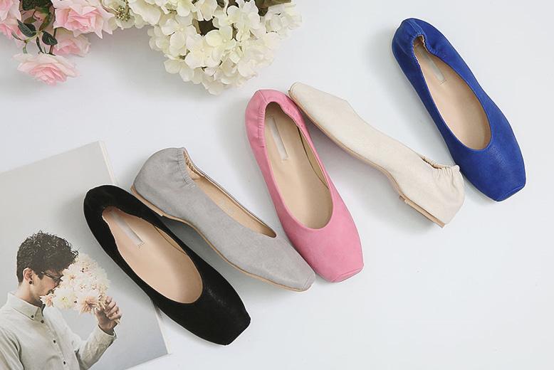 purplia-쿠셔 밴딩 플랫♡韓國女裝鞋