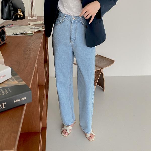 realcoco-♥NEW10%할인♥CREALPANTS뉴에버 와이드 데님팬츠(연청ver./꾸안꾸/데일리)♡韓國女裝褲