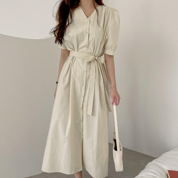 realcoco-♥NEW10%할인♥에잇 바이 셔링 롱원피스(데일리/데이트룩)♡韓國女裝連身裙