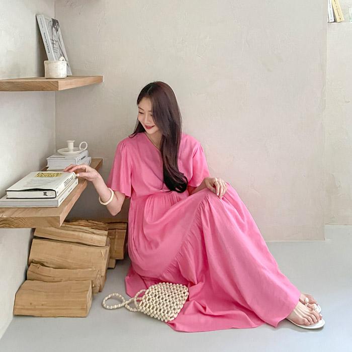 momnuri-임부복*더핑크 원피스 ♡韓國孕婦裝連身裙