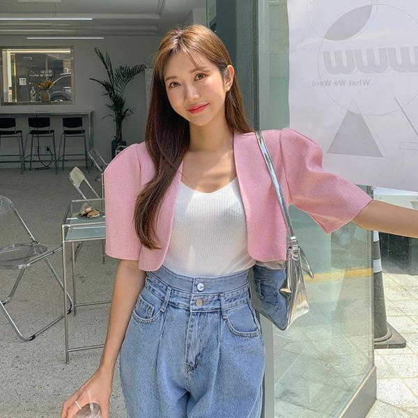 planj-트위드 볼레로 자켓♡韓國女裝外套
