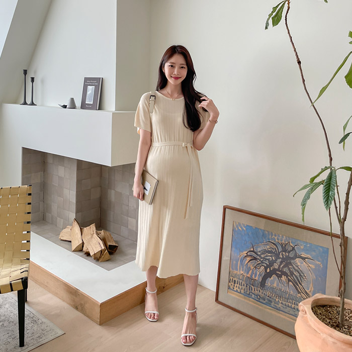 momnuri-임부복*소소함 니트원피스 ♡韓國孕婦裝連身裙