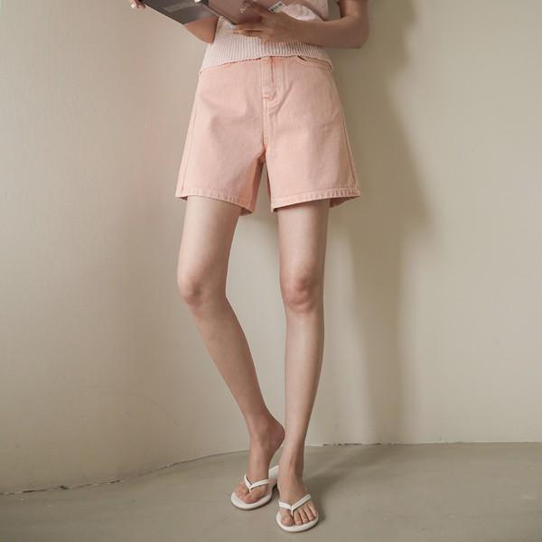 ode-[슈가 컬러 다잉 하프 팬츠]♡韓國女裝褲