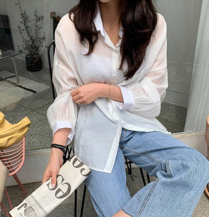 merongshop-[무료배송] 페일 썸머 베이직 셔츠 - 5 color♡韓國女裝上衣