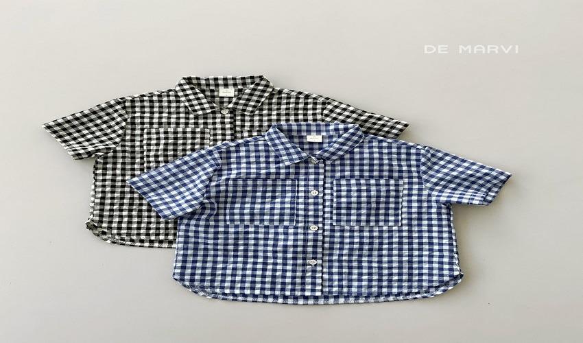 lovely2min-마르비 체크코프셔츠(XS~JXL) - lovely2min♡韓國童裝上衣