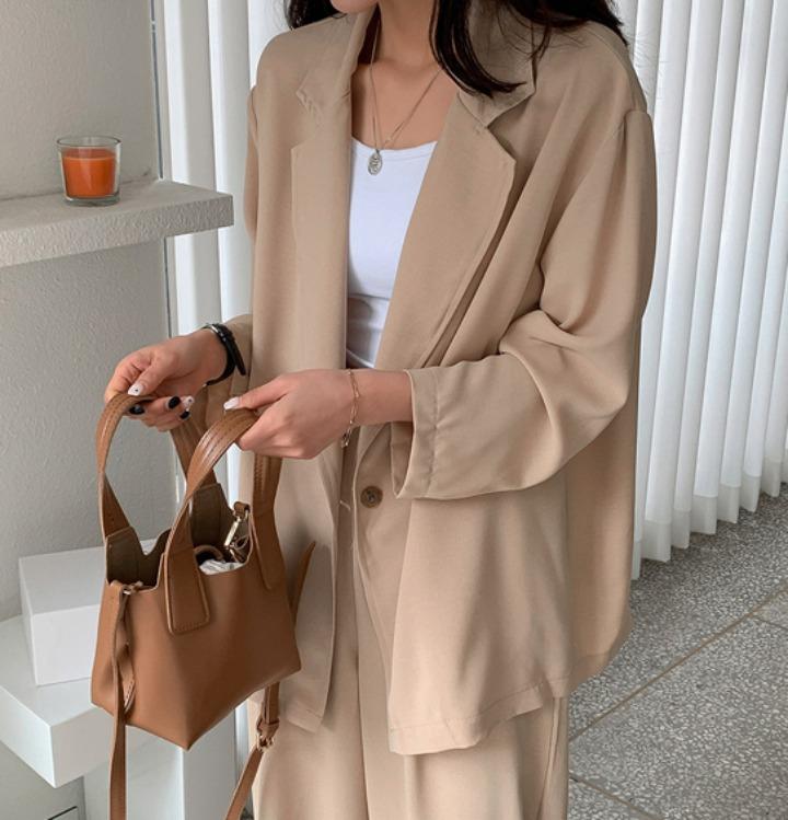 merongshop-[무료배송] 쿨링 싱글 자켓 슬랙스 셋업 - 3 color♡韓國女裝外套