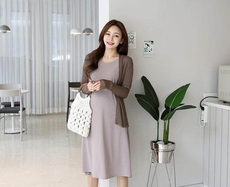 happy10-[임부복*송송잔골지 가디건]♡韓國孕婦裝外套